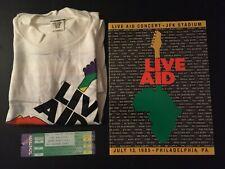 Live Aid Program, 1985 w/ Shirt & Ticket, Excellent Condition!