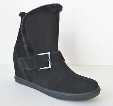 DKNY Donna Karan Sara Sport Suede Leather Wedge Ankle Boots Size 7 MSRP $185