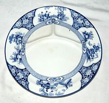 "Booth Ming Blue 10.3/4"" three-section Grill Plate"