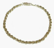 14K Yellow Gold 3.8mm HEAVY SOLID ROPE BRACELET 8.75 INCH NEW