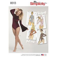 S8513 SEWING PATTERN Simplicity 8513 Misses' Bodysuits Dance Activewear Sz 6-24
