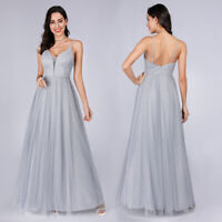 Ever-Pretty US Spaghetti Wedding Ball Gown A-Line Prom Holiday Dress Long 07904