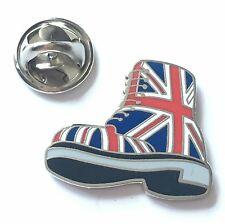 British Doc Martin Boot in Union Jack Enamel Lapel Pin Badge (T1244)