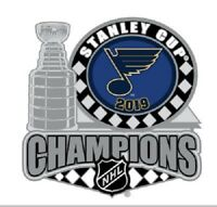 2019 ST. LOUIS BLUES PIN STANLEY CUP CHAMPIONS NHL TROPHY STYLE SHIPPING NOW!
