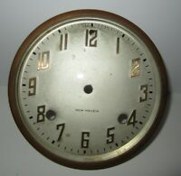 ANTIQUE NEW HAVEN HARMONIOUS MANTEL CLOCK CHIME DIAL WITH GLASS (INV A49)