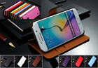 Genuine Wallet Leather Case Cover For Samsung Galaxy S8 & S6 Edge S5 Plus