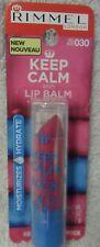 New Sealed Rimmel London Keep Calm and Lip Balm Pink Blush Rose 030 moisturize