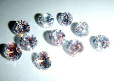 New Lot Of 10 Cubic Zirconia 8mm Loose Round Brilliant Stones