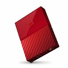 4TB WD Red My Passport  Portable External Hard Drive USB3.0 WDBYFT0040BRD-WESN