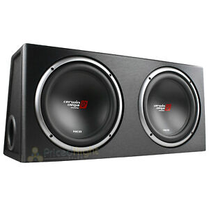 """12"""" Dual Loaded Subwoofer Enclosure With Subs 1600W Max 2 Ohm Cerwin Vega XE12DV"""