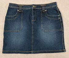 DAISY FUENTES Women's Medium Wash Stretch Midi Jean Skirt size 6