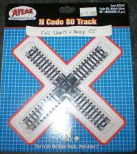 ATLAS 2569  N SCALE 90 DEGREE CROSSING SNAP TRACK Black Ties Gauge Train NEW NIP