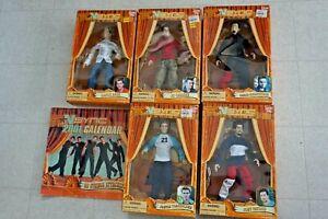 Set of 5 NSYNC Marionette Dolls 2000 Living Toyz NIB Figure Vintage Calendar Lot