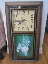 "VINTAGE 7UP HANOVER QUARTZ CLOCK WITH PENDULUM - 25"" X 13 1/2"" - WORKS GREAT"