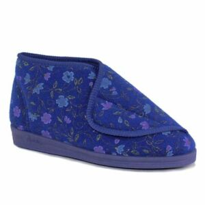 Comfylux Andrea Extra Wide Fitting Bootee Slippers touch fastening for cosy feet