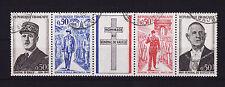 bande general de Gaulle 1971   num: 1695/98   oblitéré /6