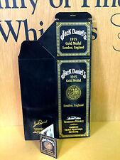JACK DANIELS 1915 GOLD MEDAL LONDON ENGLAND  UNFOLDED 750ML BOX & UNUSED HANGTAG