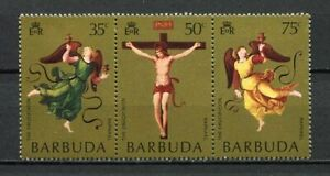 27547) BARBUDA 1971 MNH** Nuovi** Easter Pasqua strip