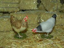 "Papo Hen Chickens Figurines for 5.5"" Nativity Scene Animal Pesebre Gallinas"