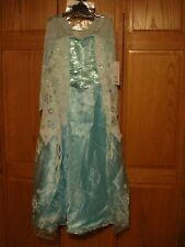 NWT Girls Disney Frozen 2 ELSA Deluxe Costume with Snowflake Ring Size M 7-8