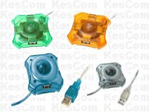 USB 2.0 Diskus 4 Port Hub aktiv optional hier ohne Netzteil verschiedene Farben