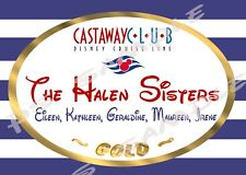 5x7 Disney Cruise CUSTOM Door Magnet - CASTAWAY CLUB, SILVER or GOLD or PLATINUM