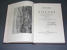 Bourgogne Monographie de la ville de Volnay Abbé Bavard 1887 reimpression 1978