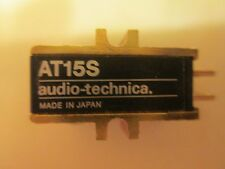AUDIO TECHNICA AT15S CART LIGHTLY USED GENUINE AUDIO TECHNICA SHIBATA CD4 STYLUS