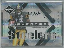 2009 PANINI LIMITED MIKE WALLACE RC AUTO 2 COLOR PATCH 17/25!! JERSEY NUMBER