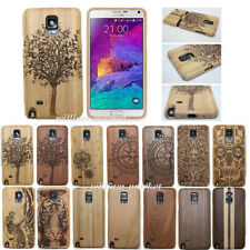 Genuine Real Wood Bamboo Carved Case Back Cover for Samsung Galaxy Note 5 S9+/S8