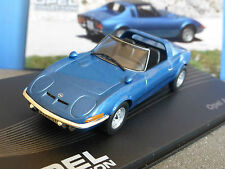 OPEL AERO GT 1969 BLEU METAL IXO 1/43 ALTAYA BLAU BLUE LHD LEFT HAND DRIVE