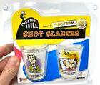 """2pk Funny Shot Glass Gift Set """"Over The Hill"""" Novelty GaG Prank Joke Retirement"""