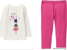 NEW GYMBOREE Hang A Star Long Sleeve Top and Pink Leggings Unicorn University 2T