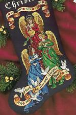 HERALD ANGELS STOCKING,Dimensions GOLD COLLECTION.Counted Cross Stitch, 8531