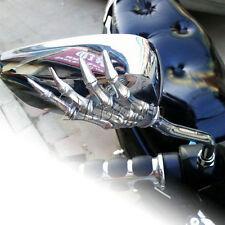 Chrome Skull Rearview Mirrors For Suzuki Intruder Volusia VS 750 800 1400 1500