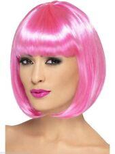 rose Perruque courte portez-le partyrama femmes 30.5cm Accessoire déguisement