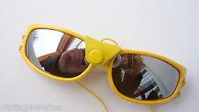 Sonnenbrille mit Leder Rarität Seitenschutz Fliegerbrille gelb streampunk sizeS