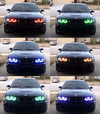Xenon RGB Multi-Color LED Angel Eyes Headlight For BMW E38 E39 E46 3 5 7 Series