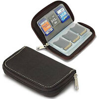 Micro SD SDHC MMC CF MD MS Memory Card Holder Storage Carry Pouch Wallet Case