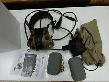 Peltor Comtac Single Comm coyote Gel Cups Ptt Tactical Military