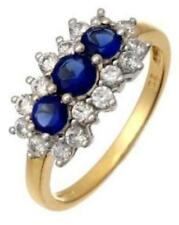 9Carat Sapphire Yellow Gold Fine Gemstone Rings