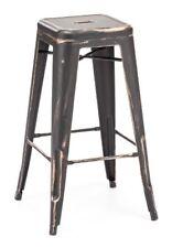 Zuo Modern Marius Bar Chair - Set of 2 Antique Black Gold