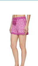 Vera Bradley New $28 16 -18 XL Floral Dots PJ Shorts Pink Elastic Waist 04195