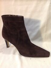 Marks&Spencer Dark Brown Ankle Suede Boots Size 7.5
