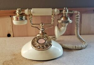 Phone French Style Rotary Dial Desk Telephone
