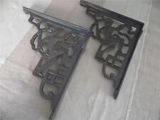 Hermoso Par De Gran Calidad Réplica Querubín Diseño de hierro fundido Soportes de estante.