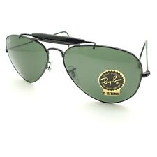ec44faac5f2af Ray Ban RB 3030 L9500 58mm Black G15 Outdoorsman Cable Temples New Authentic
