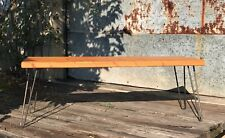 """Mud Room  Bench With 16"""" hairpin legs  hallway bench distressed pine. Hallway"""