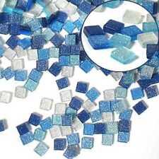 folia Mosaiksteine 5x5mm Kunstharz Glitter Mix blau