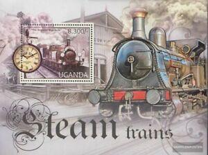 uganda Block390 MNH 2012 Steam locoThematics